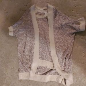 Chico's, two peice sweater set. Beige and brown